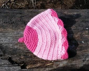 Hand Crocheted 3-6 Months Size Baby Boobie Beanie
