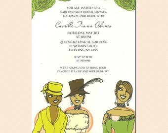African American Party Invitation - Brunch | African American Brunch Invitation | African American Garden Party Invitation | Kentucky Derby