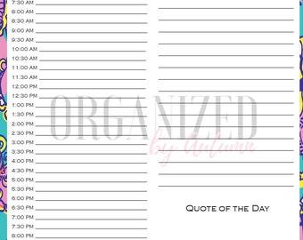 Printable Planner Pages, Calendar, Digital Download