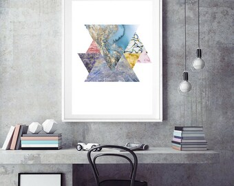 Abstract Art Print, Art Poster, Collage, Modern Contemporary Digital Wall Art