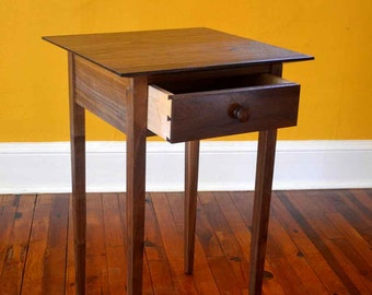 Walnut And Maple Shaker Side Table