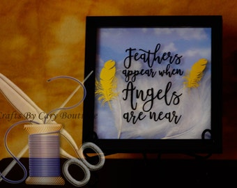 Feathers Appear When Angels Are Near Shadow Box