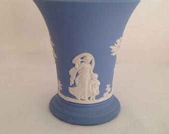 Wedgwood Jasperware Light Blue Grecian Goddesses, Cherubs and Trees