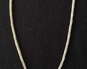 Gorgeous Intricately Woven Mompox Sterling Silver Necklace Made in Colombia