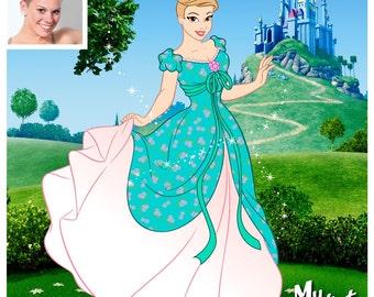 Custom Disney portrait | Disney Avatar | Princess portrait | Caricatures from photo | Cartoon yourself | Couple gift | Gift Princess art