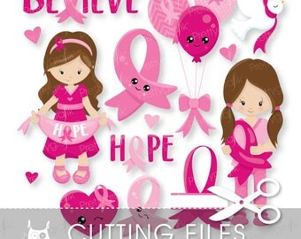 Breast cancer cutting files, svg, dxf, pdf, eps included - cutting files for cricut and cameo - Cutting Files SVG - CT1028