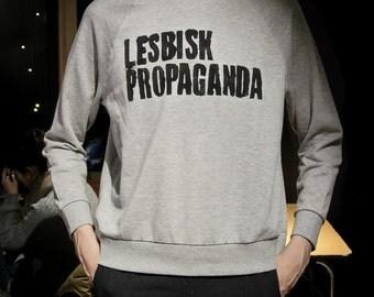 LESBISK PROPAGANDA Gray Sweatshirt