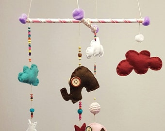 "Elephant mobile ""Rosa"""