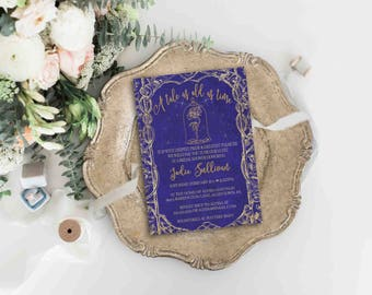 Beauty And The Beast Invitation | Disney Wedding Bridal Shower | Be Our  Guest | Beauty