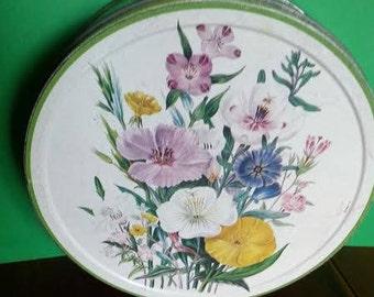 Vintage Arnott's 'Flowers' Biscuit Tin
