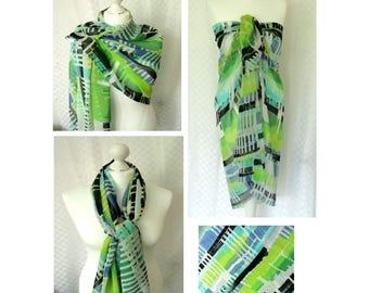 Designer chiffon scarf, Sarong, Chiffon scarf, Scarf for her, Lightweight scarf, Fashion scarf, Shawl, Sarong