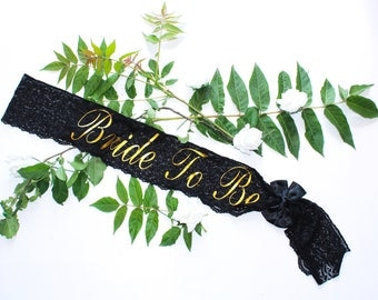 Personalized Bridal Sash - Bachelorette Sash - Bride Sash - Wedding Sash - Bride to Be Sash - Custom made Sash