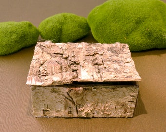 Jeweler birch, box magic jeweler, wood of birch, birch bark, rustic box, chest, birch bark box, jewelry box wood bark Birch