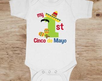 Cinco De Mayo, Cinco De Mayo Onesie, Cinco De Mayo bodysuit, Cinco De Mayo, 1st Cinco De Mayo, first Cinco De Mayo, Cinco De Mayo shirt
