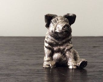 Sterling Silver Pig / Hallmarked / Magrino - 925 / Italy