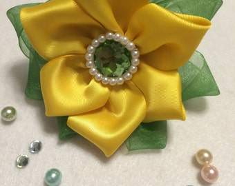 Lush Sunflower Kanzashi hairband
