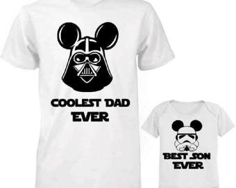 Star Wars Father Son Shirts,Coolest Dad and Best Son Ever Shirts,Fathers Day Shirt,Father Son Matching Shirts,Fathers Day Gift