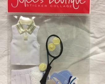 Jolee's Boutique Dimensional Tennis Sticker, Sports Sticker