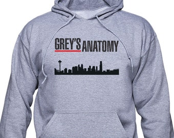 Greys Anatomy, city logo, unisex hoodie or sweatshirt, Greys Anatomy hoodie, greys anatomy, XXXL sweatshirt, gym pullover, gift for, (GRA02)