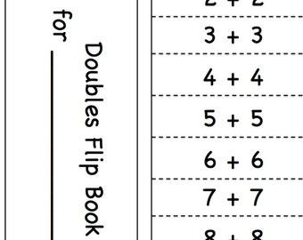 Doubles Student Flip Book (Grades K-1)