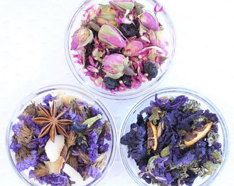 Sample Trio - Fountain of Youth Collection - Whole Flower Herbal Tea