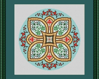 Vintage cross stitch pattern (Digital Format - PDF), cross stitch sсheme, cross stitch chart