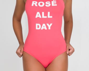 Rose All Day One Piece Swimsuit - one piece swimwear - cute swimsuit - pink swimsuit - bathing suits women - womens bodysuit - swim