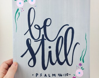 Be Still Canvas, Psalm 46:10