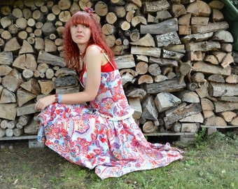 Summery skirt set + bodice with Paisley patterns