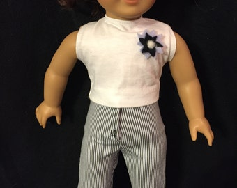 American girl doll prepared