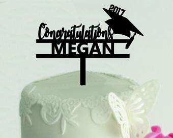 Personalized Graduation Cake Topper, Personalized Cake Topper