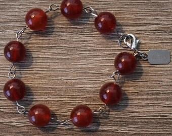 SINIGUAL Handmade Carnelian Bracelet