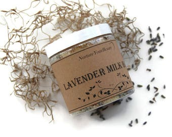 Goat Milk Bath with Dry Lavender, Floral Bath Salts, Organic Bath Salts, Natural Bath Salts, Bath Soak, Bath Salts, Gifts for Her