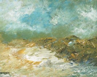 Ireland, landscape painting, impressionism, imagination
