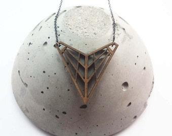 Handmade laser cut necklace