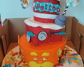 Fondant Dr.Suess Cake Topper (set of 6)