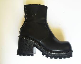 Vintage Black Vegan Boot