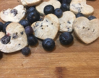 Grain-free blueberry banana dog treats