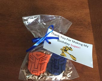 Transformers Party Favors, Transformers Birthday, Superhero Party Favors, Transformers Crayons