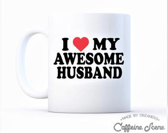 Wedding Shower Gift Ideas For Gay Couple : Love My Awesome Gift Idea Funny Husband Mug Anniversary Couples Gift ...
