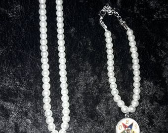OES Pearl Necklace and Bracelet Set