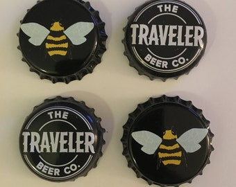 Traveler Beer & Bees Bottle Cap Magnets