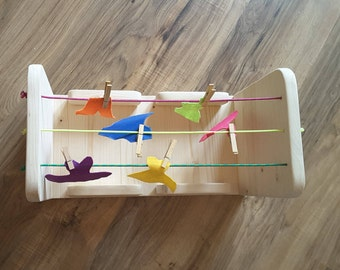 Drying rack wooden learning toys for kids learning Toy