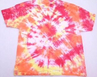 Spiral TIE DYE Shirt Size 2X - Red, Orange, Yellow