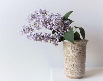 Ceramic Vase Cylinder White Medium