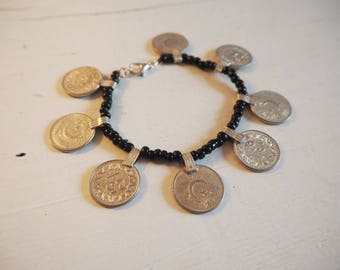 Bracelet with Pakistani coins