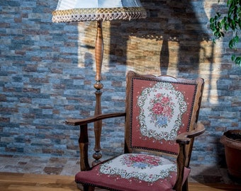Retro armchair with tradicional/etno tapestry fabric
