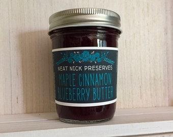 Maple Cinnamon Blueberry Butter