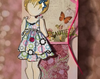 Gift Tag - Birthday Gift Tag - Decorative Gift Tag - Julie Nutting Doll Gift Tag - Friend Gift Tag - Just Because Card - Gift Tag for Her