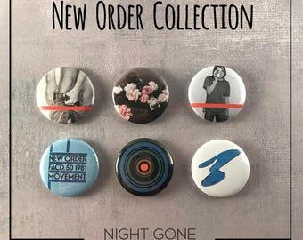 "New Order 1"" Button Collection - Bernard Sumner"